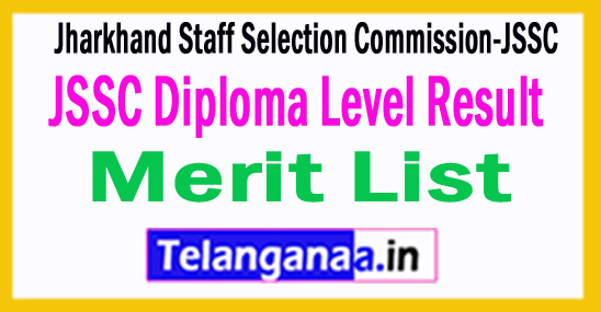JSSC Diploma Level Result 2018 Merit List