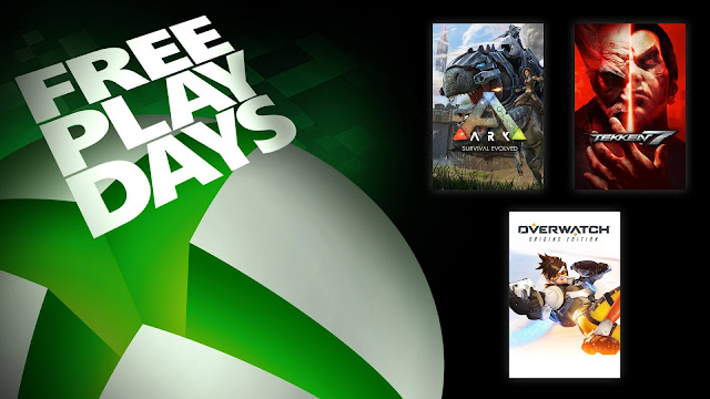ark survival evolved tekken 7 overwatch origins edition xbox live gold free play days event