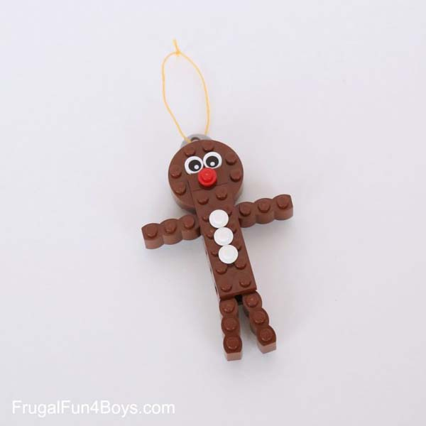 Lego gingerbread man christmas ornament