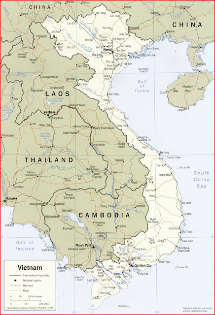 Gambar Peta politik Vietnam