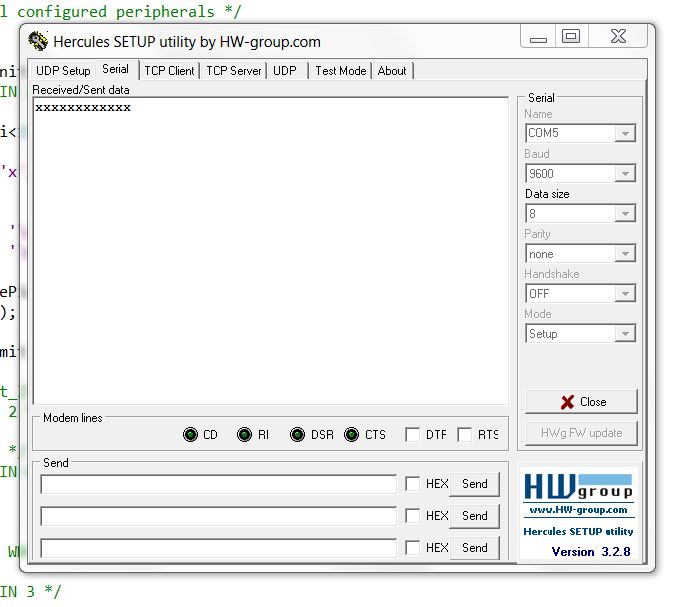 Transmit UART data in STM32 - CONTROLLERSTECH