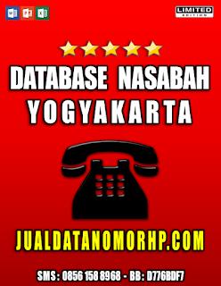 Jual Database Nasabah Prioritas Yogyakarta