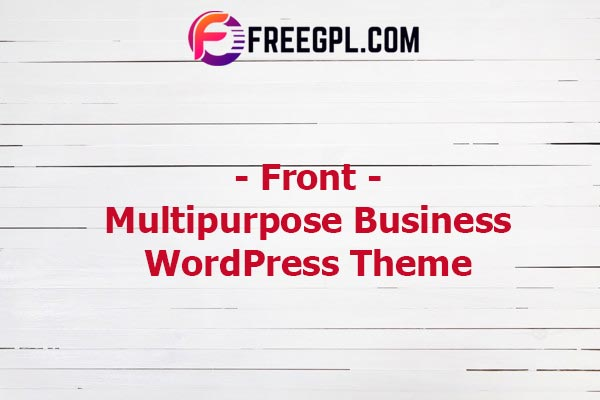 Front - Multipurpose Business WordPress Theme Nulled Download Free