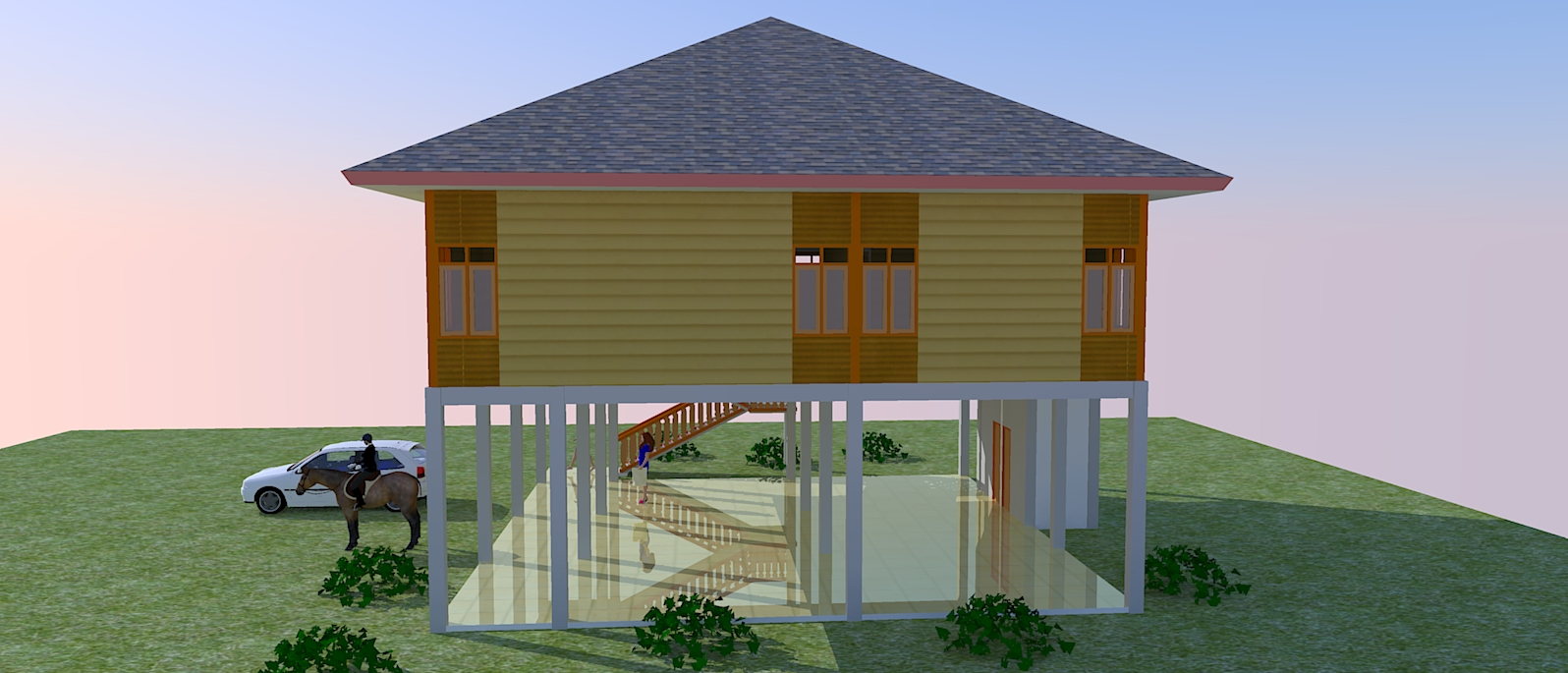 Contoh Disain Rumah Kayu