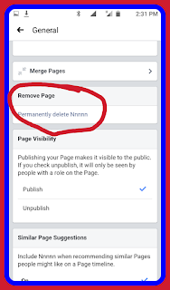 How to remove page
