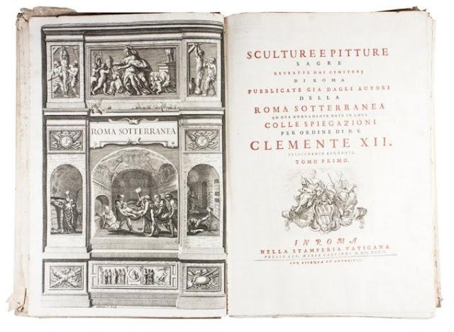 9) Il frontespizio delle Sculture e pitture sagre estratte dai cimiterj di  Roma pubblicate gia  sic  dagli autori della Roma sotterranea ed ora  nuovamente ... 260d58e5c1e