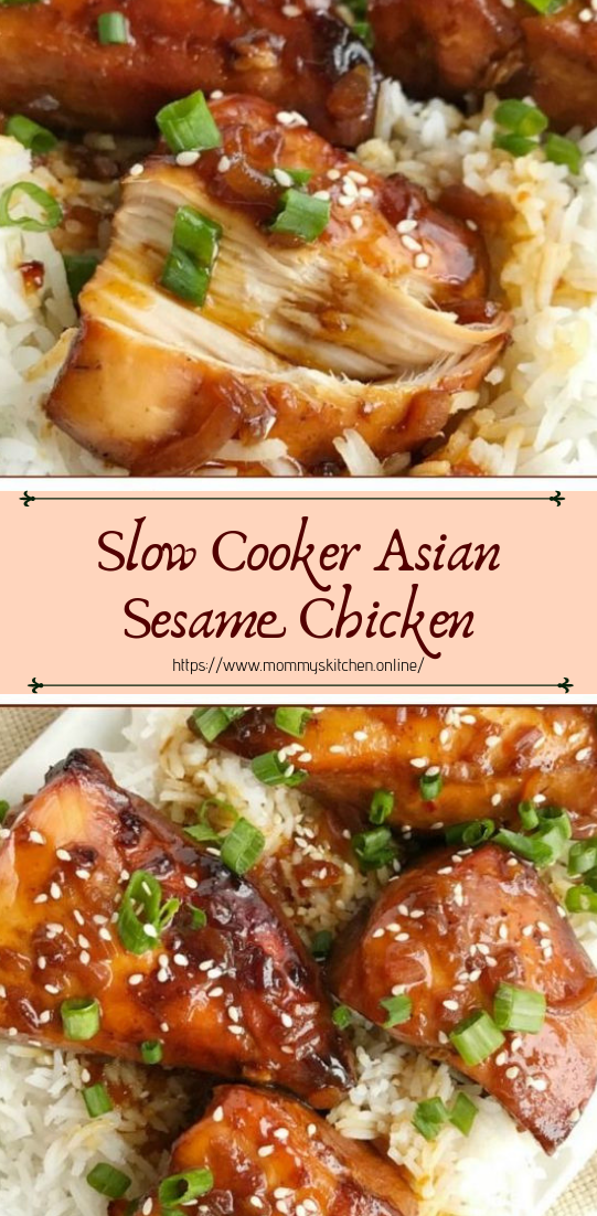 Slow Cooker Asian Sesame Chicken #dinnerrecipe #food #amazingrecipe