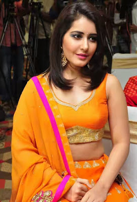 Actress Rashi Khanna Photos in Orange Dress 1 - Rashi Khanna Hottest Navel Images-Sexiest Photo Gallery HD Pictures All in One Collection