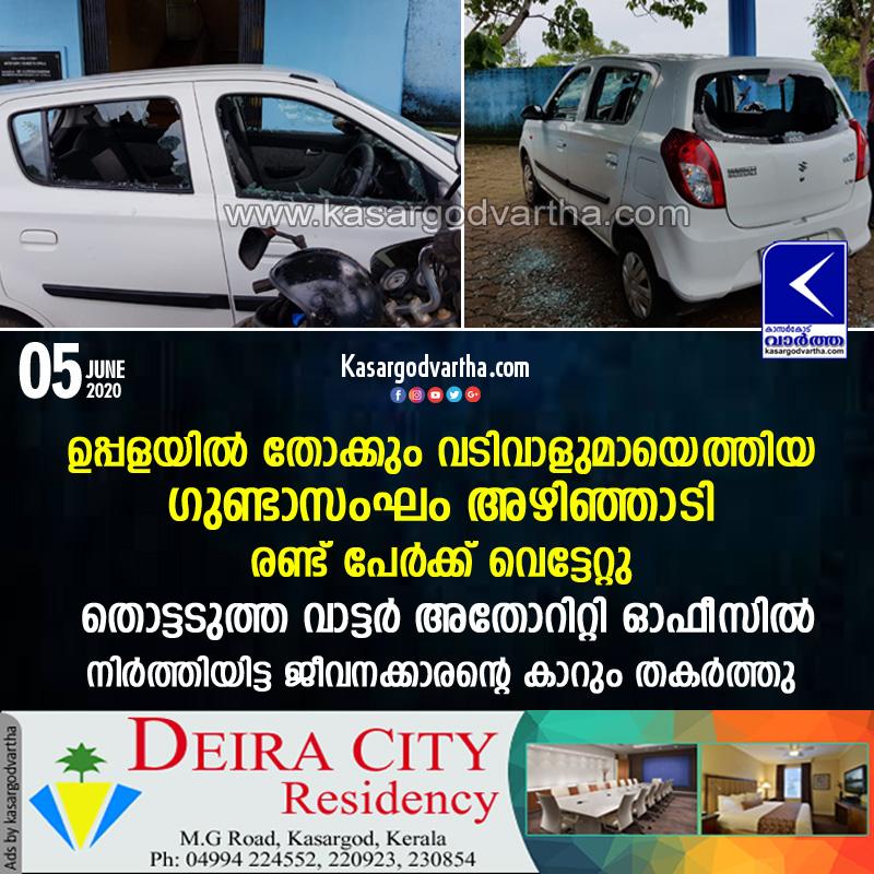 Kasaragod, Uppala, Kerala, News, Criminal-gang, Attack, Goonda gang attack in Uppala