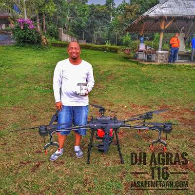 drone spray dji t16 survey pemetaan