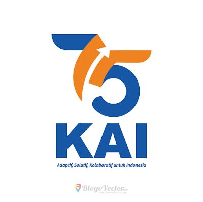 HUT Kereta Api Indonesia ke 75 (2020) Logo Vector