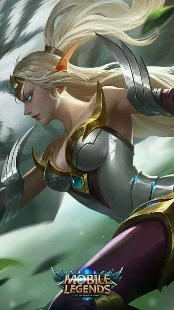 Wallpaper Irithel Silver Cyclone Skin Mobile Legends HD for Mobile