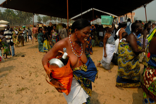 OUIDAH, BENIN - THE BIRTHPLACE OF VOODOO AND THEIR ANNUAL