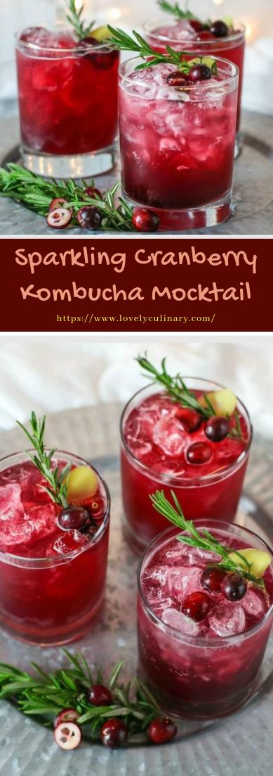 Sparkling Cranberry Kombucha Mocktail #healthydrink #easyrecipe