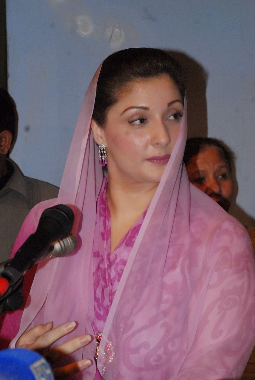 Hot And Sexy Politician Photos Of Maryam Nawaz In Green Dress