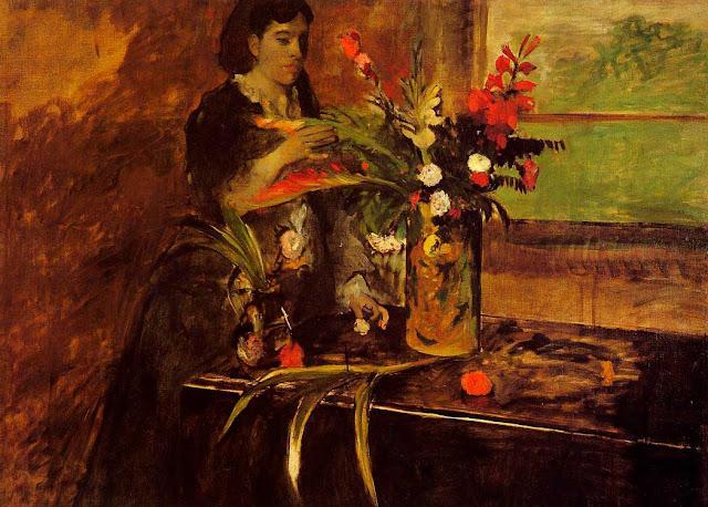 Эдгар Дега - Портрет мадмуазель Рене де Га (1872-1873)