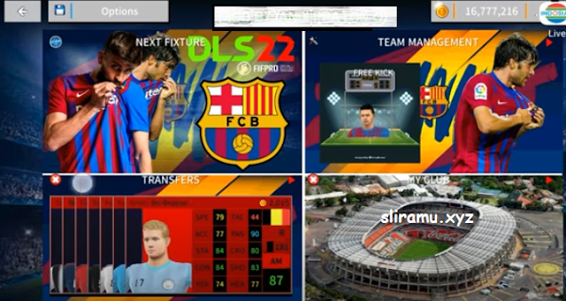 DLS 22 Mod Barcelona New Update Kits & Transfer Pemain 2021-2022