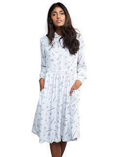 Rheson Women's Stationery Shirt Dress