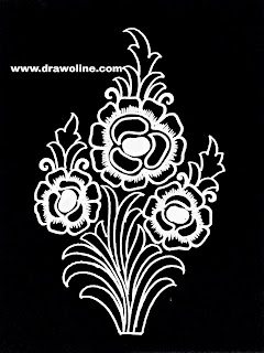 Pencil sketches of flowers design/hand embroidery design images free download.