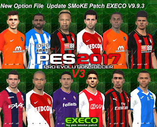 PES 2017 Option File SMoKE Patch EXECO 9.9.3 Update 7-1-2019