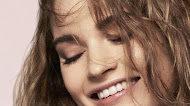 Lily James Smile Photoshoot Mobile Wallpaper