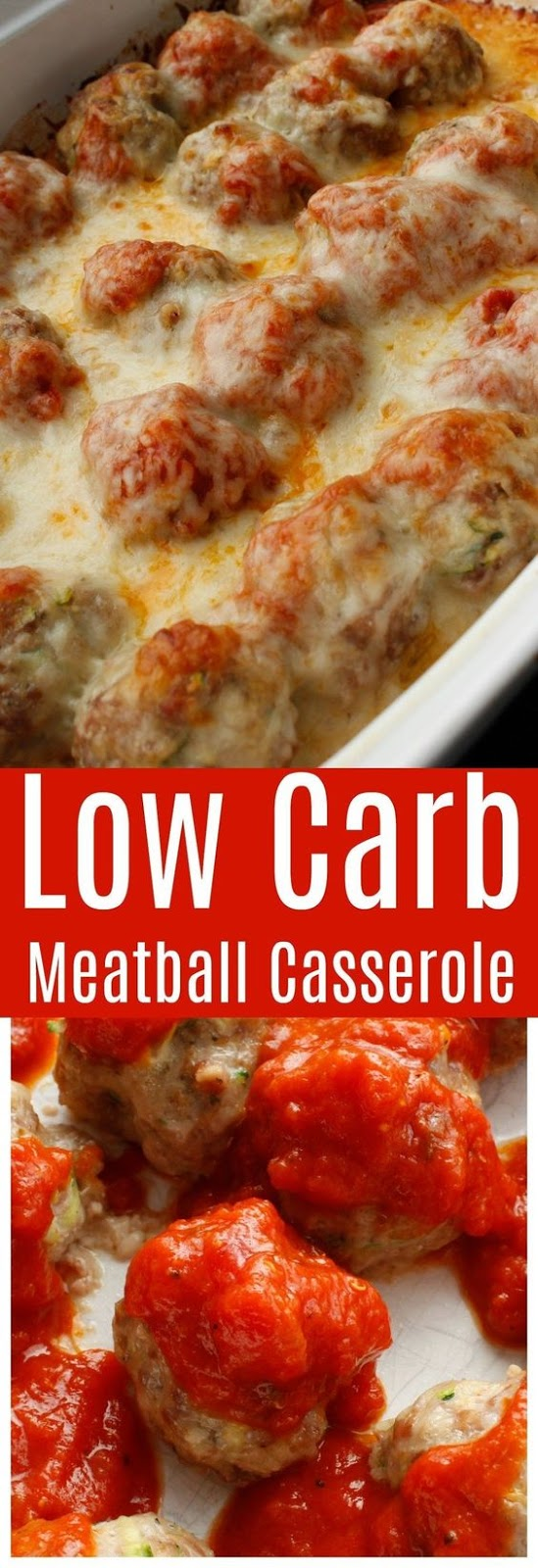 Low Carb Meatball Casserole