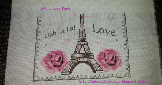SAL I Love Paris en punto de Cruz (6 bloque)