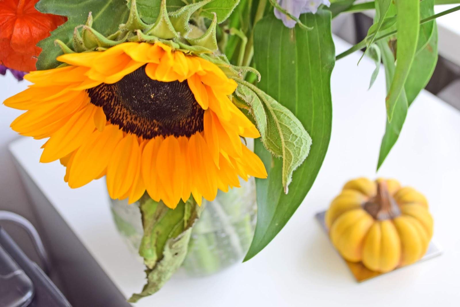 Słonecznik w bukiecie