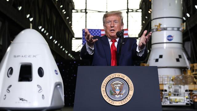 """Trump: """"La NASA estaba cerrada y muerta hasta que yo la puse de nuevo en marcha"""""""