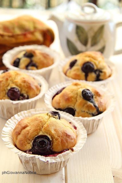 Muffin con i mirtilli alla vaniglia