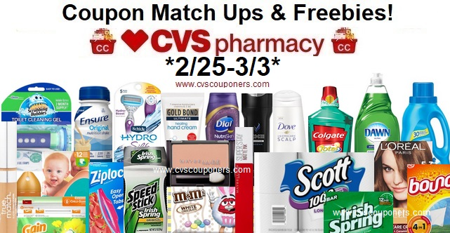 http://www.cvscouponers.com/2018/02/cvs-coupon-match-ups-freebies-225-33.html