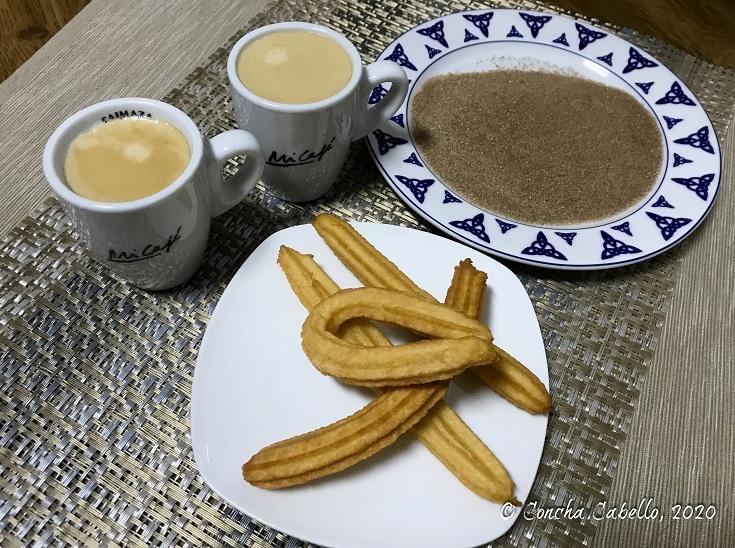 churros-café-azúcar-canela