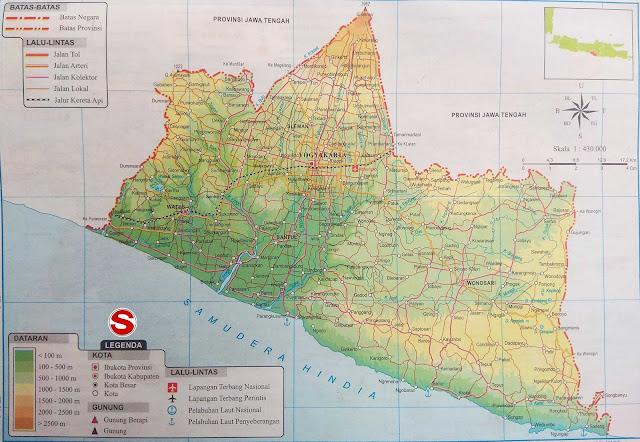 Gambar Peta Atlas Daerah Istimewa Yogyakarta (DIY)