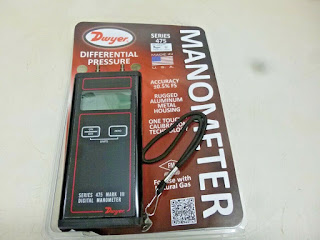 "Darmatek Jual Dwyer 475-00-FM Mark III, 0-4.0"" w.c. Differential Pressure Digital Manometer Handheld"