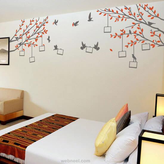 tranh tường phòng ngủ đơn giản bình dương