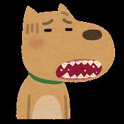 歯周病の犬のイラスト