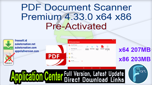 PDF Document Scanner Premium 4.33.0 x64 x86 Pre-Activated