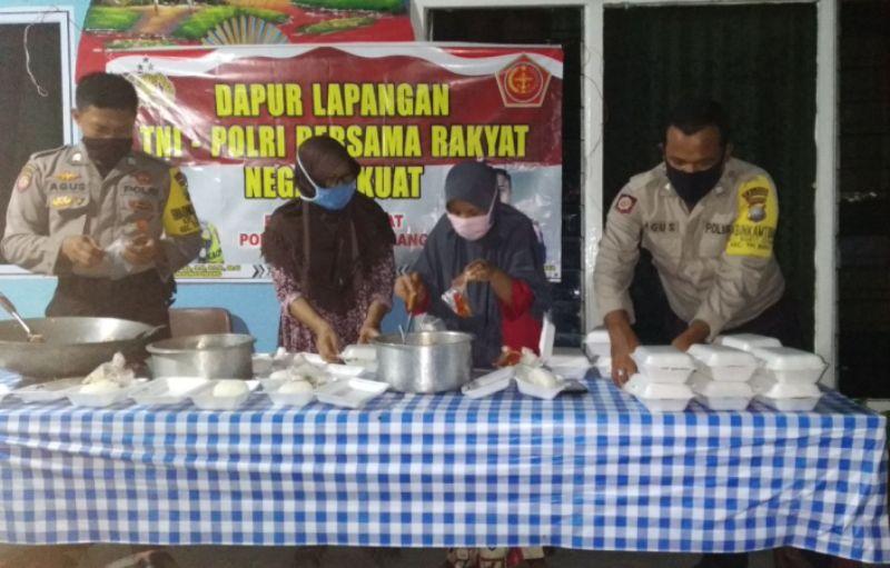 "Sahur Kamtibmas"" Polres Tanjungpinang Patroli dan Berbagi Makanan Santap Sahur"