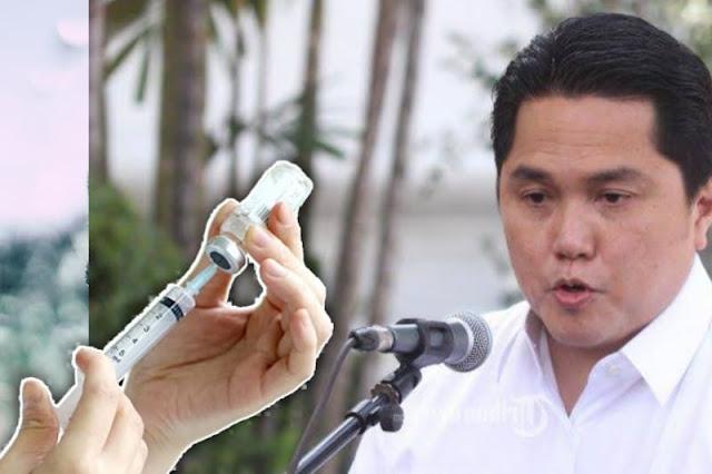 Ogah Disuntik Vaksin Covid-19 Asal China, Erick Thohir: Rakyat Dulu, Pemimpin Belakangan