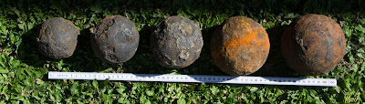 Ternate Fleet cannonballs recovered from Shipwreck