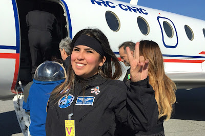 Astronauta Carmen Félix experiencia