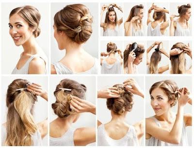 Updo Type Hairstyle Medium Length Hair