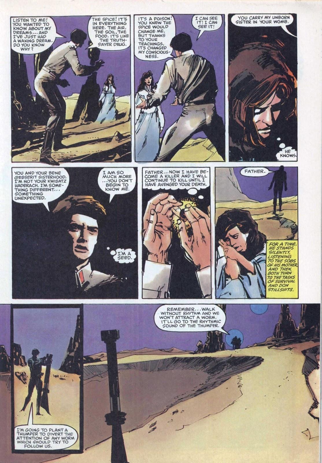 The PorPor Books Blog: SF and Fantasy Books 1968 - 1988: Dune Marvel Super  Special Part Two