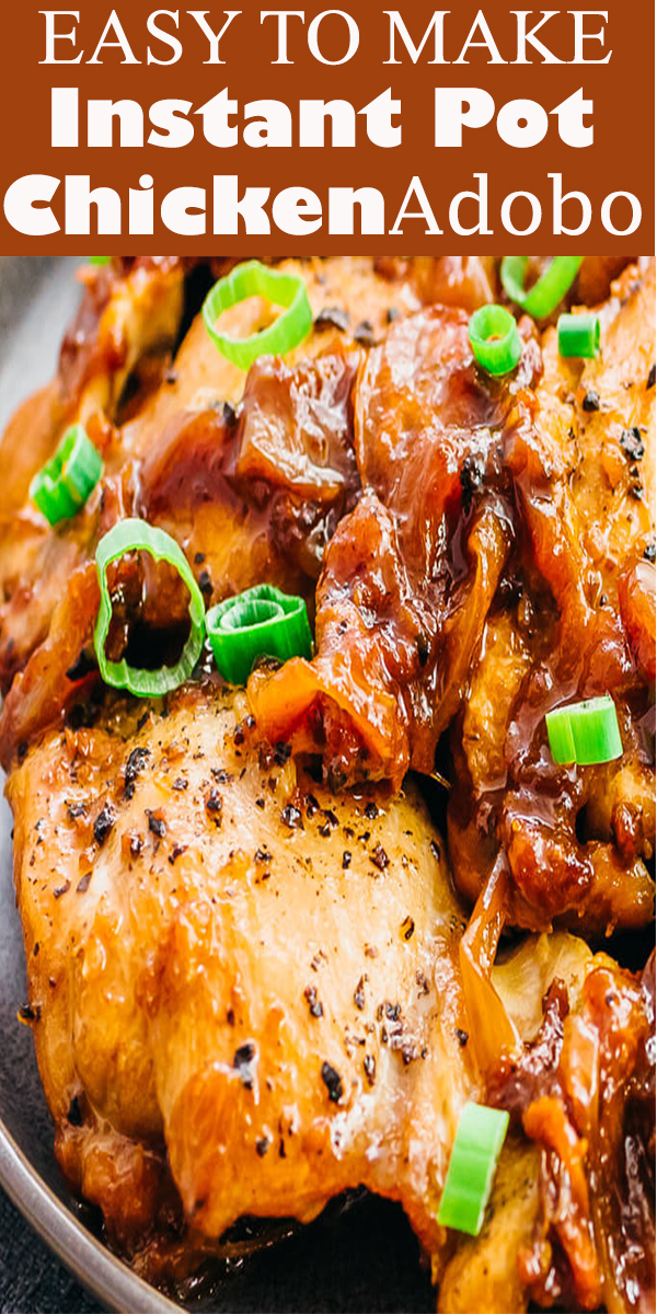 Instant Pot Chicken Adobo Recipe #lowcarb #keto #dinner #chicken #chickenrecipe #instantpot