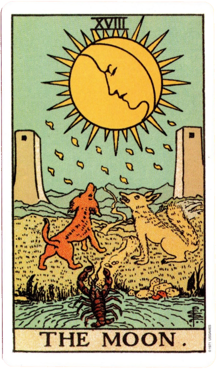 The Original Rider Waite Tarot, The Moon