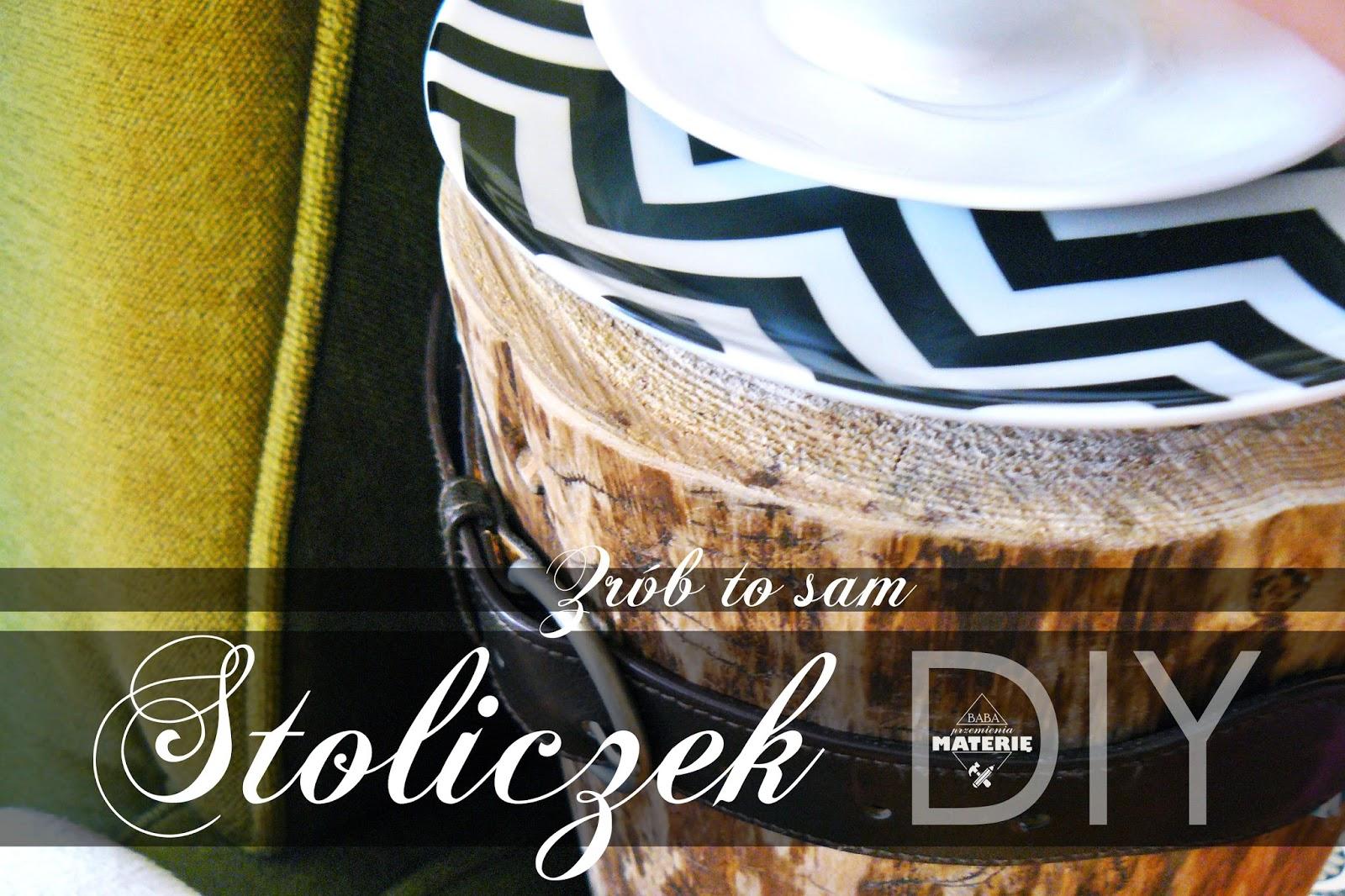 http://babaprzemieniamaterie.blogspot.com/2016/09/may-ale-wysoki-stoliczek-z-pnia-diy.html