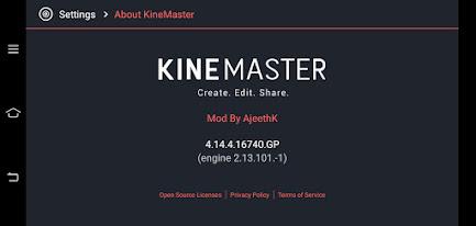 Kinemaster new latest version 4.14.4.16740.GP free mod apk kinemaster