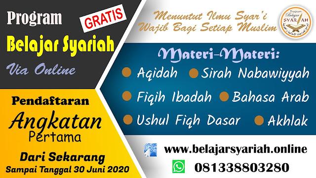 Pendaftaran Program Syariah Ke 1