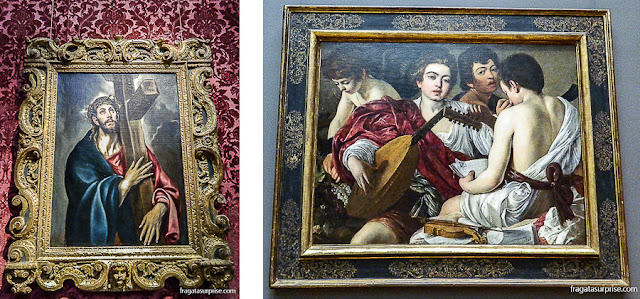 """""""Cristo Carregando a Cruz"""", de El Greco, e """"Os Músicos"""", de Caravaggio no Museu Metropolitan de Nova York"""