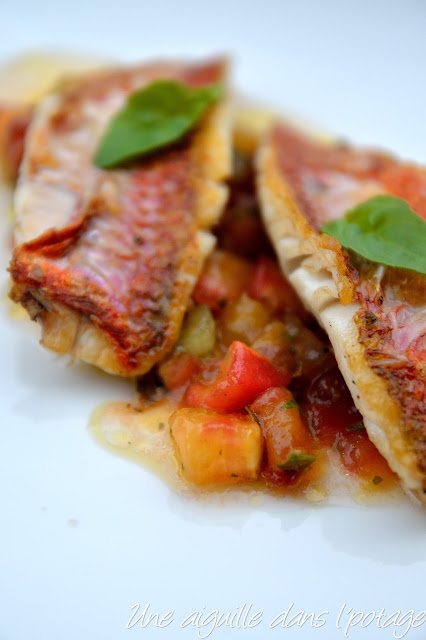 Rouget, sauce vierge